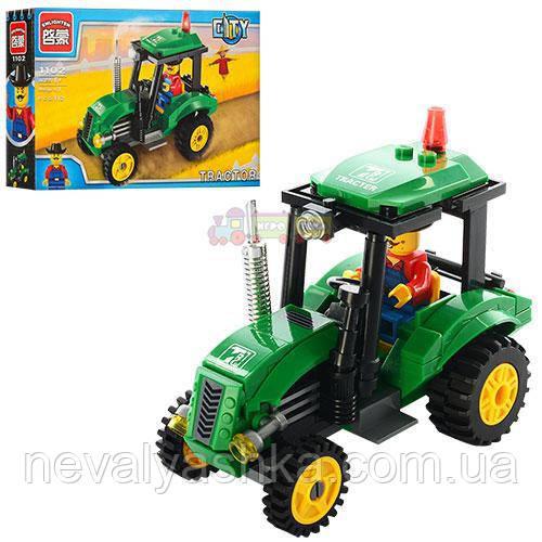 Конструктор BRICK Стройтехника Трактор, 112 дет., 1102, 007421