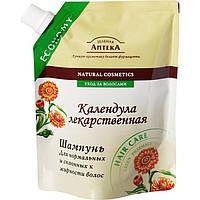 """Шампунь  """" Календула """" для нормальных и склонных к жирности волос от ТМ """"Зеленая аптека """", 200 мл."""