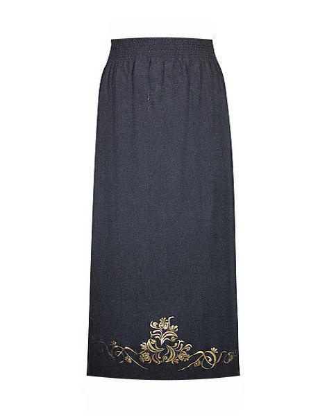 Трикотажная юбка макси Винтаж