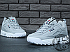 Женские кроссовки Fila Disruptor II 2 Grey/White, фото 4
