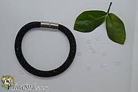 Браслет черный магнитная застежка камни многослойный черный цвет Шарм украшения для девушки Новинка шнур ХИТ!