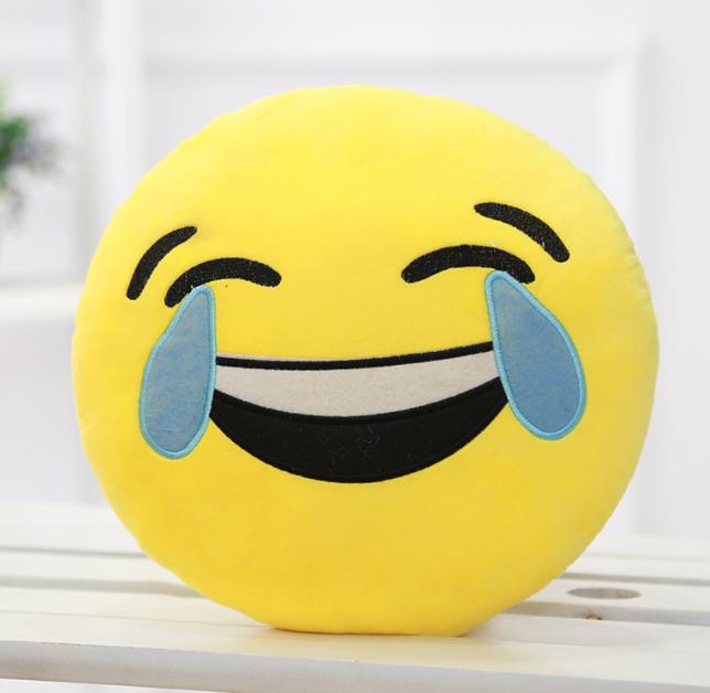 Декоративные подушки Смайл Emoji 33 см. Подушка смайлик