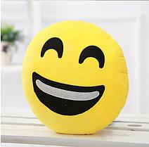 Декоративні подушки Смайл Широка посмішка Emoji 33 див. Подушка смайлик