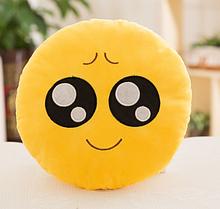 Декоративные подушки Смайл Улыбка Emoji 33 см. Подушка смайлик подморгующая