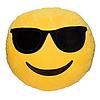 Декоративные подушки Смайл в очках Emoji 30 см. Подушка смайлик