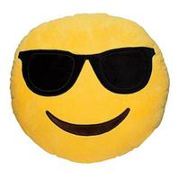 Декоративные подушки Смайл в очках Emoji 30 см. Подушка смайлик , фото 1
