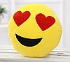 Декоративные подушки Смайл Улыбка Emoji 30 см. Подушка смайлик с сердечками
