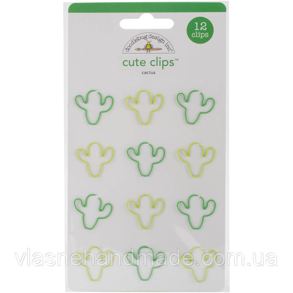 Скріпки - cactus - Doodlebug - 12Pkg (ціна за 2 шт)