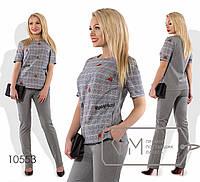 Элегантный комбинированный костюм в расцветках 485 (0553)