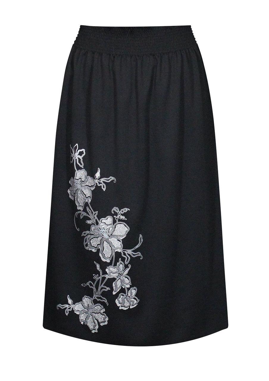 Трикотажная юбка миди Ветка