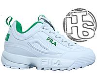 Женские кроссовки Fila Disruptor II 2 Leather White/Green 36
