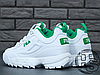 Женские кроссовки реплика Fila Disruptor II 2 Leather White/Green, фото 3