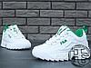 Женские кроссовки реплика Fila Disruptor II 2 Leather White/Green, фото 4