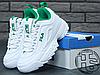 Женские кроссовки реплика Fila Disruptor II 2 Leather White/Green, фото 5