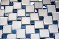 Зеркальная мозаика с синими вставками MIX-1, фото 1