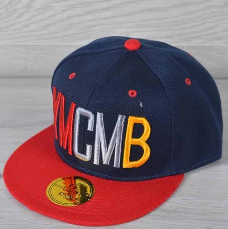 """Реперка взрослая """"YmCMB"""". Размер 57-58 см. Темно-синяя+красный. Оптом и в розницу."""