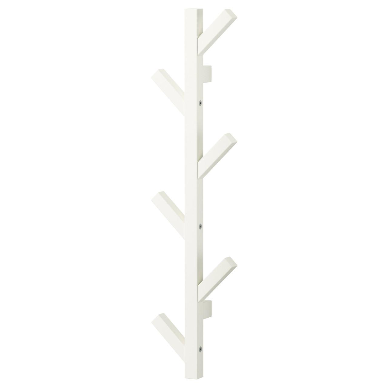 ЧУСИГ Вешалка, дерево, белый, 78 см 60291708 ИКЕА, IKEA, TJUSIG