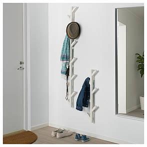 ЧУСИГ Вешалка, дерево, белый, 78 см 60291708 ИКЕА, IKEA, TJUSIG, фото 2