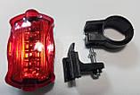 Велосипедный светодиодный фонарь задний 198 (СТОП) (2хААА), фото 4