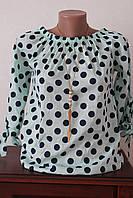 Блуза горох крестьянка, фото 1