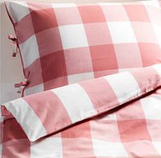 ЭММИ РУТА Постельное белье, розовый/белый, 200x200/50x60 см 60216714 ИКЕА, IKEA, EMMIE RUTA, фото 2