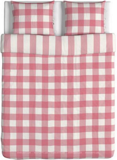 ЭММИ РУТА Постельное белье, розовый/белый, 200x200/50x60 см 60216714 ИКЕА, IKEA, EMMIE RUTA