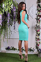Платье женское карандаш длина миди, мята, фото 3
