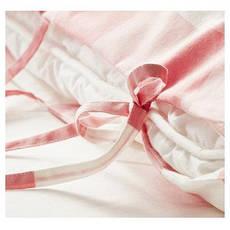 ЭММИ РУТА Постельное белье, розовый/белый, 200x200/50x60 см 60216714 ИКЕА, IKEA, EMMIE RUTA, фото 3