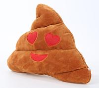Декоративная подушка какашка 27 см. Очень модный подарок взрослым и деткам.Сердечки, фото 1