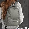 Рюкзак светло-серый из экокожи матовый