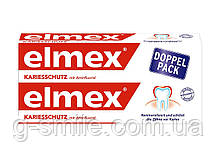Зубная паста против кариеса с аминфлоридом Elmex Kariesschutz mit Aminflourid DOPPEL-PACK, 2х75 мл