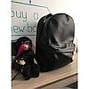 Рюкзак чёрный матовый из экокожи
