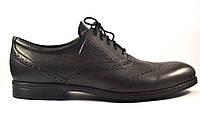 Обувь больших размеров мужская демисезонные туфли броги кожаные черные Rosso Avangard Felicete Onyx Black BS, фото 1