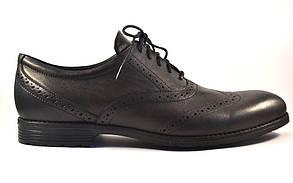 Взуття великих розмірів чоловіча демісезонні черевики броги шкіряні чорні Rosso Avangard Felicete Onyx Black BS