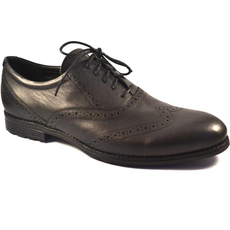 Мужские туфли броги кожаные обувь под джинсы черные Rosso Avangard Felicete Onyx Black