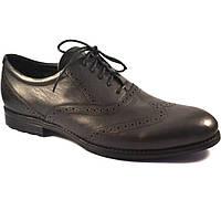 Мужские туфли броги кожаные обувь под джинсы черные Rosso Avangard Felicete Onyx Black, фото 1