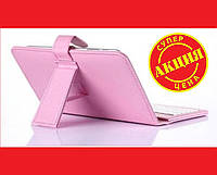 Чехол клавиатура для планшета 10 Rus MicroUSB Розовый, фото 1