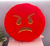 Декоративные подушки Смайл Сердитая Emoji 33 см. Подушка смайлик