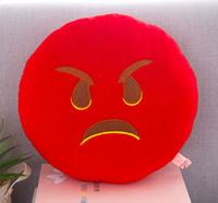 Декоративные подушки Смайл Сердитая Emoji 33 см. Подушка смайлик, фото 1
