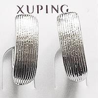 """Серьги """"Идеал"""", родиевое покрытие. Ювелирная бижутерия Xuping Jewelry. , фото 1"""