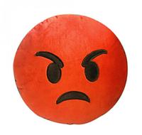 Декоративные подушки Смайл Сердитая Emoji 30 см. Подушка смайлик