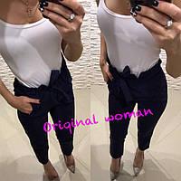 Женские брюки на высокой посадке в расцветках 212245, фото 1