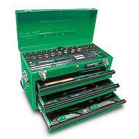 Ящик металлический с инструментом 3секции 99предметов GCAZ0038 TOPTUL