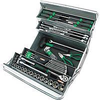 Ящик металлический с инструментом 5секций 63предмета GCAZ0039 TOPTUL