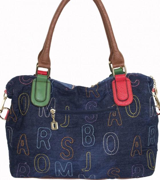 369ad8be62ab ... Женская сумка синего цвета из джинсовой ткани и кожзаменителя с  монетницей, ...