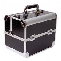 Кейс чемодан для косметики (черный)