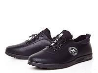Черные женские кроссовки кожзам
