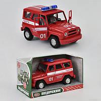 Автомобиль внедорожник УАЗик 9076 CEF звук, свет, открываются двери
