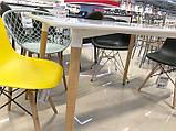 Стол обеденный Nolan DT-9017 прямоугольный белый, деревянные  ножки, копия Mario Cellini Halo Dining Table, фото 3