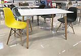 Стол обеденный Nolan DT-9017 прямоугольный белый, деревянные  ножки, копия Mario Cellini Halo Dining Table, фото 5